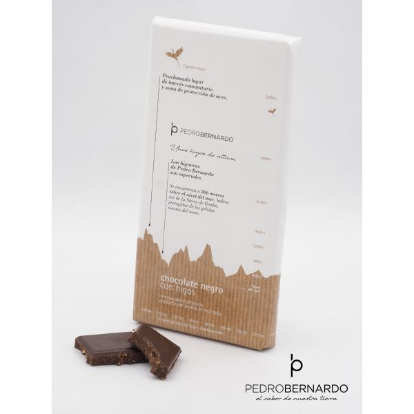 TABLETA CHOCOLATE NEGRO CON HIGOS